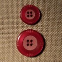 Bouton rouge corail 15mm/20mm 4-trous