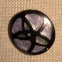 Bouton manteau mauve noir métal 30mm