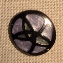 Coat Button lilac black metal 30mm