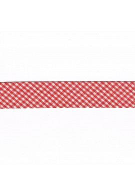 Vichy mini Woven Bias binding 20mm red € 1.00 per meter