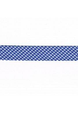 Vichy mini Woven Bias binding 20mm cobalt blue