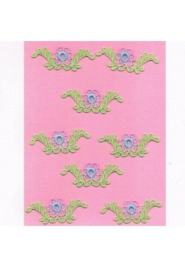 Lace patches flowers 8 pieces to sew-on