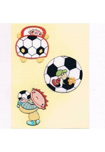 Patches Iron-on 3 pieces (the car and soccer)