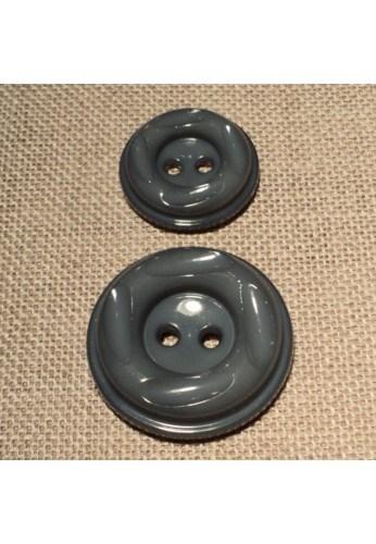 Coat Button dark grey 23m/30mm 2-holes