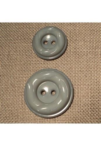 Coat Button grey 23m/30mm 2-holes