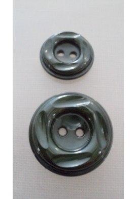 Coat Button dark green 23m/30mm 2-holes