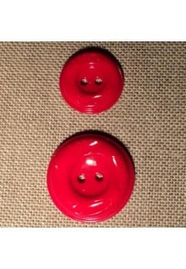 Bouton manteau rouge 23mm/30mm 2-trou