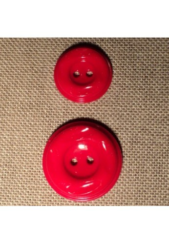 Bouton manteau rouge 23mm/30mm 2-trou