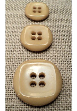 Bouton beige 15mm/18mm/23mm 4-trous