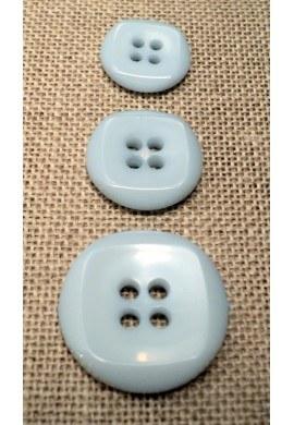 Bouton bleu pâle 15mm/18mm/23mm 4-trous