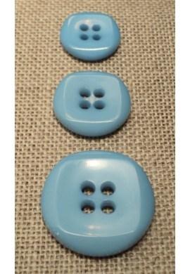 Bouton bleu ciel 15mm/18mm/23mm 4-trous