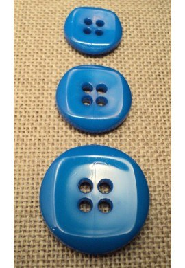 Bouton bleu royal 15mm/18mm/23mm 4-trous