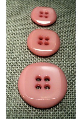 Bouton rose bonbon 15mm/18mm/23mm 4-trous