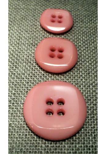 Button sweet pink 15mm/18mm/23mm 4-holes