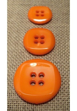 Button orange 15mm/18mm/23mm 4-holes