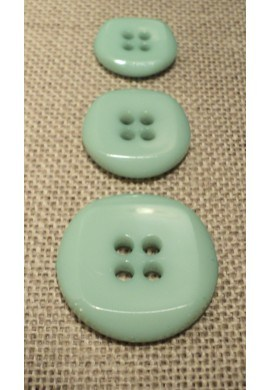 Button aquamarine 15mm/18mm/23mm 4-holes