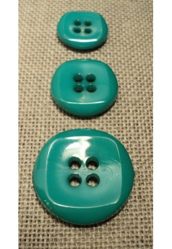 Button sea green 15mm/18mm/23mm 4-holes