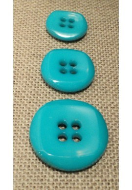 Bouton turquoise 15mm/18mm/23mm 4-trous