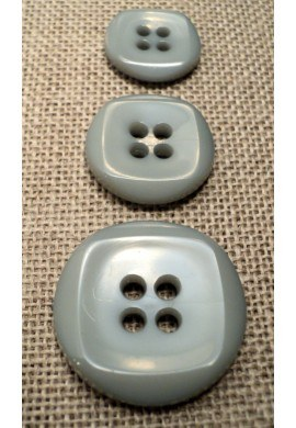 Button grey 15mm/18mm/23mm 4-holes