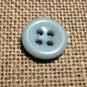 Button light blue 11mm 4-holes Baby, shirt and button down