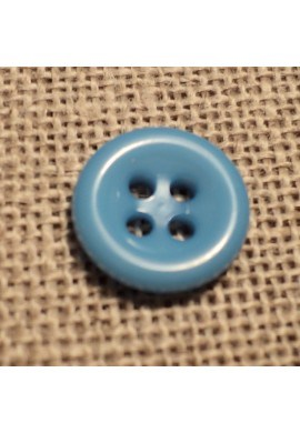 Button sky blue 11mm 4-holes Baby button, shirt and button down