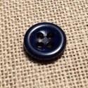 Bouton bleu marine 11mm 4-trous Bouton Bébé, chemise, button down