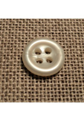 Button off-white 11mm 4-holes Baby button, shirt and button down