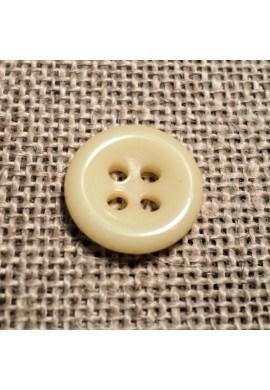 Bouton écru 11mm 4-trous Bouton Bébé, chemise, button down