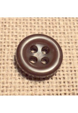 Button brown 11mm 4-holes Baby button, shirt and button down