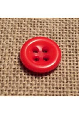 Bouton rouge orangé 11mm 4-trous Bouton Bébé, chemise, button down