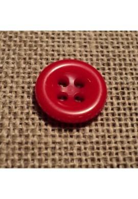 Bouton rouge 11mm 4-trous Bouton Bébé, chemise, button down