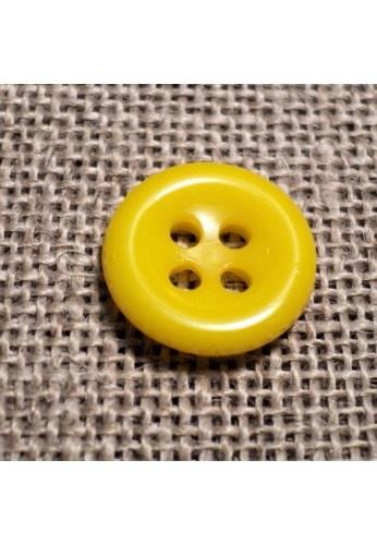 Bouton jaune 11mm 4-trous Bouton Bébé, chemise, button down