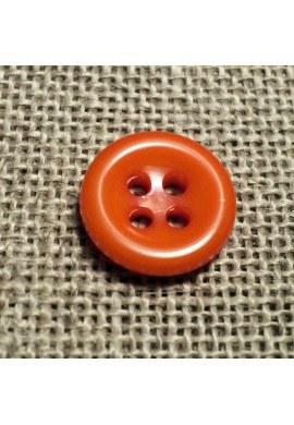 Bouton orange 11mm 4-trous Bouton Bébé, chemise, button down