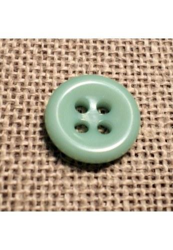 Bouton vert d'eau 11mm 4-trous Bouton Bébé, chemise, button down