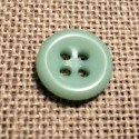 Button aquamarine 11mm 4-holes Baby button, shirt and button down