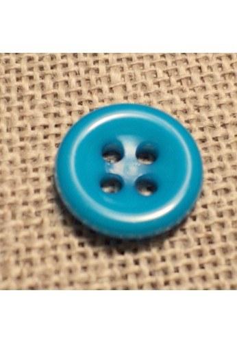 Bouton turquoise 11mm 4-trous Bouton Bébé, chemise, button down