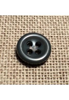 Bouton gris foncé 11mm 4-trous Bouton Bébé, chemise, button down