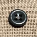 Button dark grey 11mm 4-holes Baby button, shirt and button down