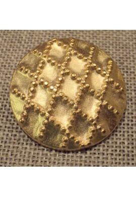 Bouton métal manteau 28mm doré
