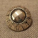 Metal Coat Button silver baroque medieval 23mm