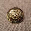 Bouton métal folklorique doré, 23mm