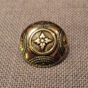 Traditional metal costume Button, gold 23mm