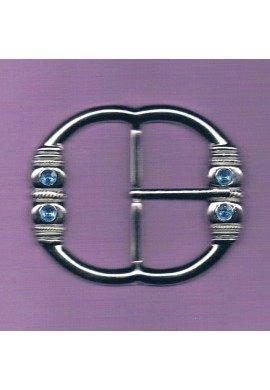 Boucle de ceinture 50mm métal argenté