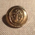 Navy Anchor Blazer button, gold 21mm