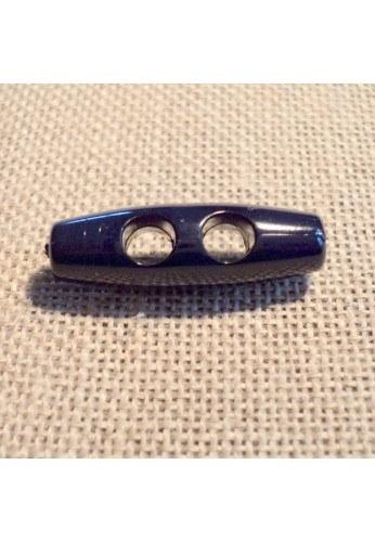 Bouton buchette bleu marine 25mm 2-trous