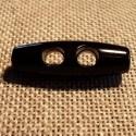 Bouton buchette noir 25mm 2-trous kabig