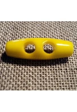 Bouton buchette jaune 25mm 2-trous kabig