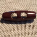 Bouton buchette marron 25mm 2-trous kabig