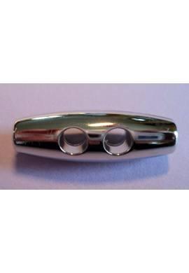 Bouton buchette argenté 35mm 2-trous kabig