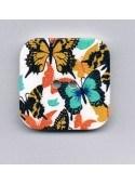 Bouton décoratif 32x32mm, papillons